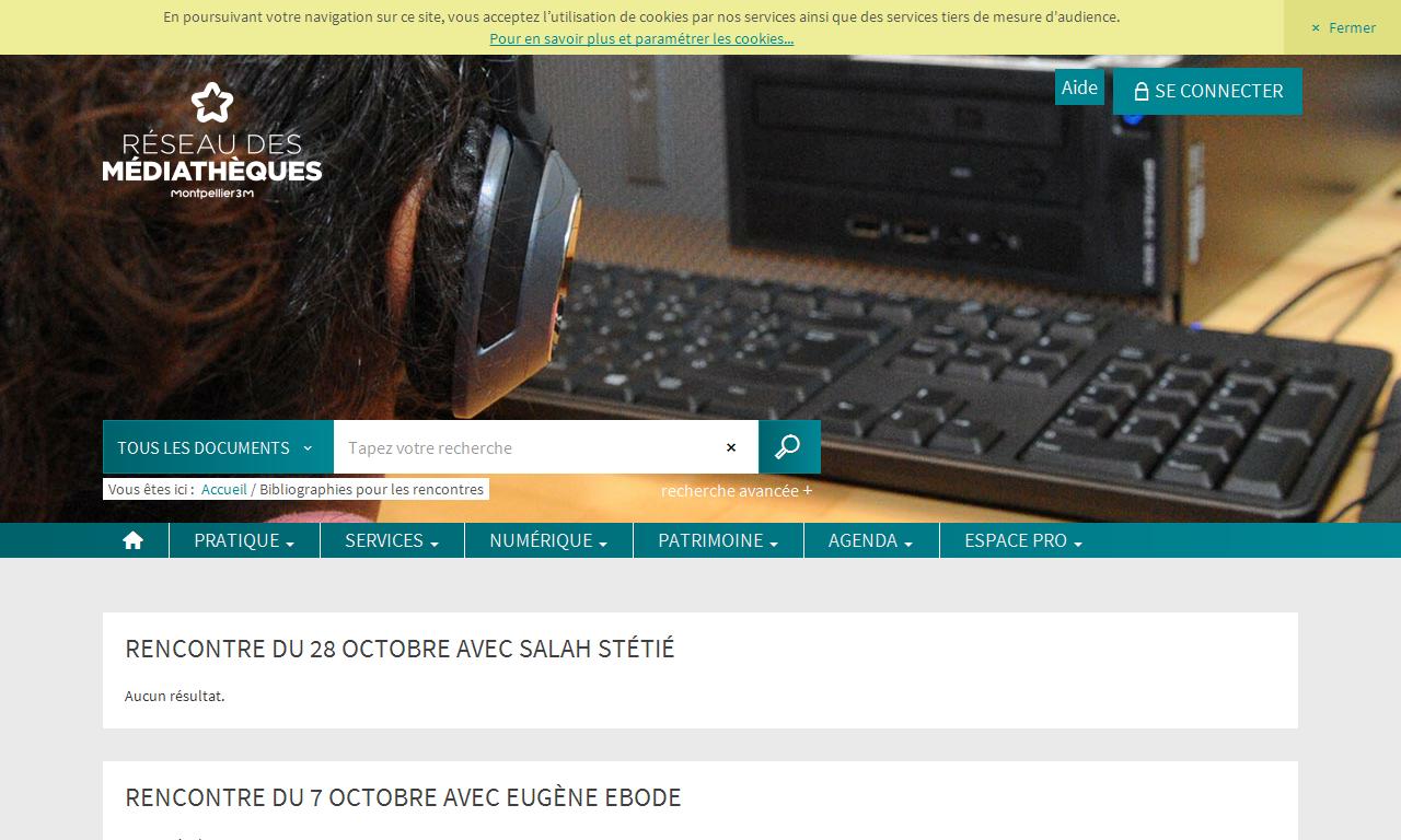 Médiathèques Montpellier Méditerranée Métropole - Accueil a8611343f2e5